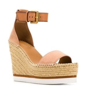 Chloé Wedges Nude/Pink